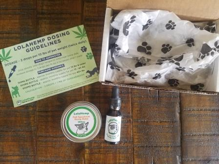 LolaHemp shipping box and contents