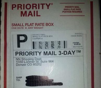 NuLeaf Naturals USPS Packaging