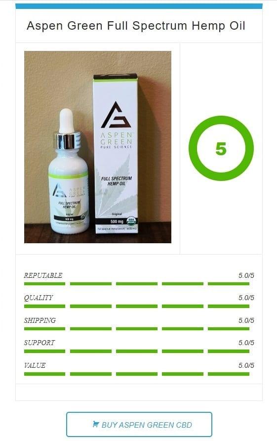 aspen green cbd oil rating