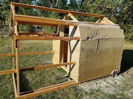 Hempcrete house construction